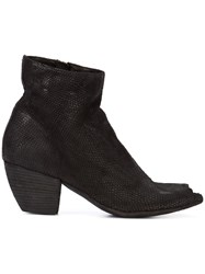 Officine Creative Open Toe Boots Women Leather 37 Black