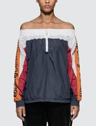 Opening Ceremony Off The Shoulder Warm Up Anorak