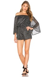 Endless Rose Farrah Romper Metallic Silver