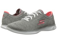 Skechers Go Step Lite Gray Pink Women's Shoes
