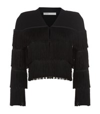 Maje Melisse Fringe Cardigan Female Black