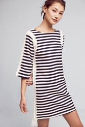 Anthropologie Nautical Patchwork Tunic Dress Blue Motif