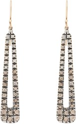 Fabrizio Riva Mixed Diamond And White Gold Teardrop Earrings Colorless
