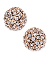 Charter Club Gold Tone Pave Ball Stud Earrings Only At Macy's Rose Gold