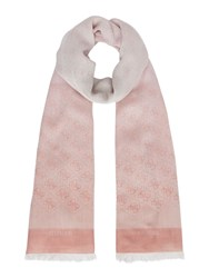 Guess Jacqui Scarf With All Over Logo Rose