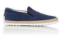 Tod's Pantofola Suede Espadrille Sneakers Blue