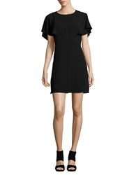 Kensie Crepe A Line Dress Black