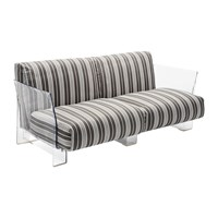 Kartell Pop Outdoor Two Seater Sofa Dove Grey