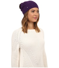 Ugg Isla Lurex Beanie W Fur Pom Bilberry Multi Beanies Purple
