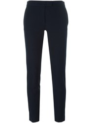 Joseph Cropped Skinny Trousers Blue