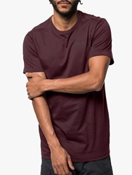 Jack Wolfskin Essential T Shirt Port Wine