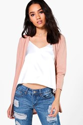 Boohoo Fran Light Weight Knit Cardigan Rose