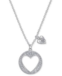 Danori Pave Heart Pendant Necklace 16 2 Extender Created For Macy's Clear