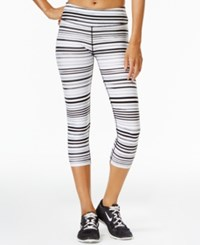 Tommy Hilfiger Sport Striped Cropped Leggings A Macy's Exclusive Style Black Combo
