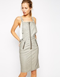 Supertrash Dungy Dress With Zip Front White