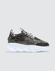 Versace Zebra Print Chain Reaction Sneakers Black