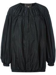 Giambattista Valli Balloon Sleeve Oversized Jacket Black