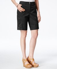 Karen Scott Cargo Shorts Only At Macy's Deep Black