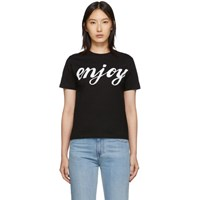 Mcq By Alexander Mcqueen Black Enjoy Band T Shirt