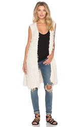 Free People Rolling Stone Furry Vest Ivory