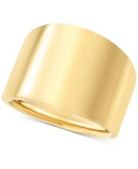 Macy's Wide Polished Band In 14K Gold