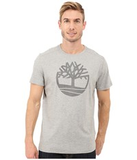 Timberland Kennebec River Tree Logo T Shirt Medium Grey Heather Men's T Shirt Gray