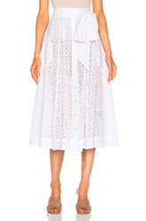 Lisa Marie Fernandez Beach Skirt In White