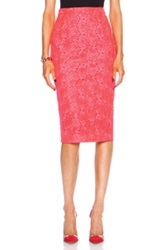 A.L.C. Towner Poly Skirt In Neon Pink Floral