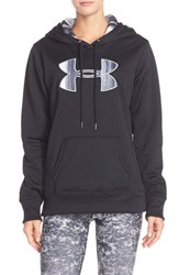 Women's Under Armour Logo Hoodie Black White