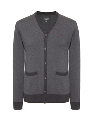 Peter Werth Colcross Cut Cardigan Charcoal Marl