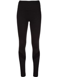 Alala Mesh Panel Sports Leggings Black