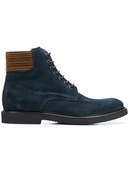 Eleventy Lace Up Boots Blue