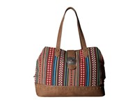 American West Buena Vista Multi Compartment Large Tote Multi Browns Tote Handbags
