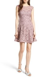 Speechless Sequin Lace Fit And Flare Dress Mauve