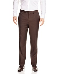 Jack Victor Loro Piana Classic Fit Trousers Chocolate