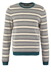 Pier One Jumper Grey Offwhite Multicoloured