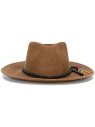 Sensi Studio Beaded Band Hat Brown