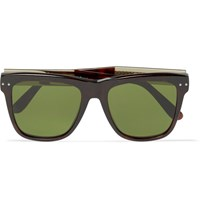 Bottega Veneta Square Frame Tortoiseshell Acetate Sunglasses Brown