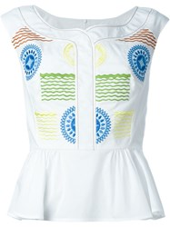 Peter Pilotto 'Iris' Top White