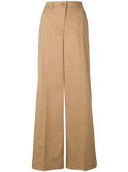 Essentiel Antwerp Summertime Wide Leg Trousers Neutrals