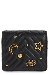 Rebecca Minkoff Half Snap Calfskin Leather Wallet Black