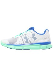 Under Armour Micro G Speed Swift Cushioned Running Shoes White Antifreeze Ultra Blue