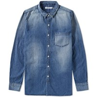 Nonnative Dweller Denim Shirt Blue