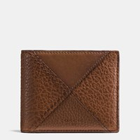 Coach 3 In 1 Wallet In Canyon Quilt Buffalo Embossed Leather Dark Saddle Multi
