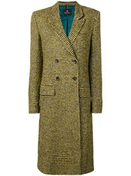 Paul Smith Ps By Double Breasted Fitted Coat Yellow And Orange