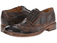 Bed Stu Corsico Black Rustic Rust Bfs Leather Lace Up Wing Tip Shoes Brown