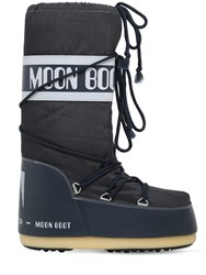 Moon Boot Classic Nylon Waterproof Snow Boots Blue Jeans