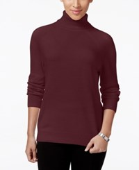 Karen Scott Petite Turtleneck Sweater Only At Macy's Merlot