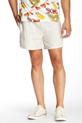 Parke And Ronen Linen Vintage Mid Thigh Volley Short Beige