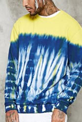Forever 21 Tie Dye Sweatshirt White Yellow